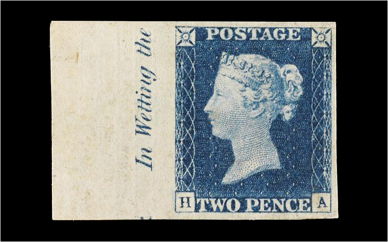 2D Deep Blue Stamp
