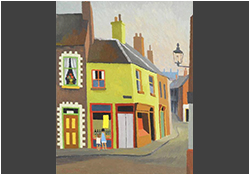 Colin Middleton, R.H.A. (1910 - 1983):	Street Corner Shop