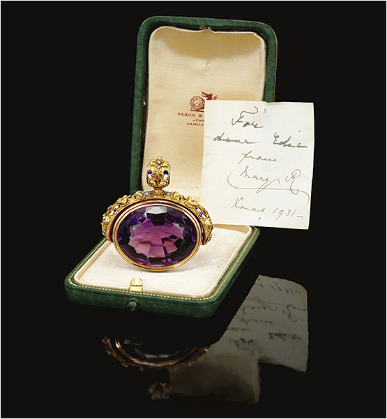 Gold, Amethyst and Enamel Pendant (mid 19th Century)