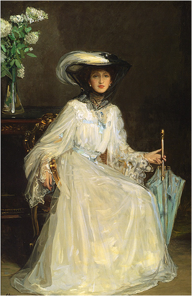 Evelyn, Lady Farquhar by Sir John Lavery