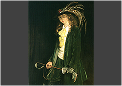 Portrait of Gardenia St. George with riding crop by Sir William Orpen