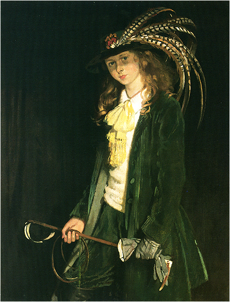 Sir William Orpen - Portrait of Gardenia St. George with Riding Crop