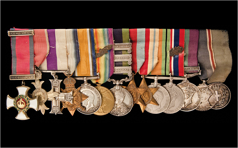 A series of well-documented WW1 Medals