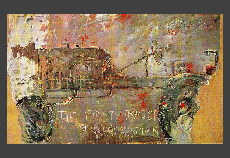 Basil Blackshaw H.R.H.A. - First Tractor in Randalstown