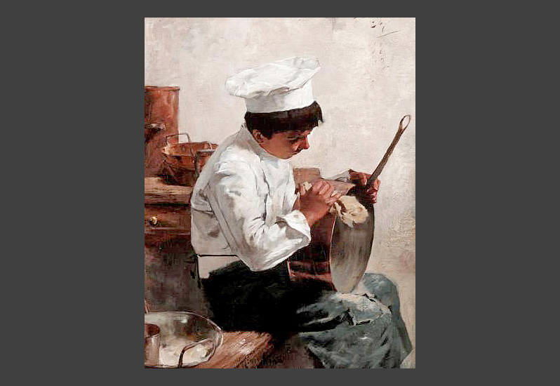 Edouard John Menta (1858 – 1915) - The Chef's Boy