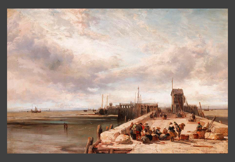 James Webb (1825-1895) - Honfleur